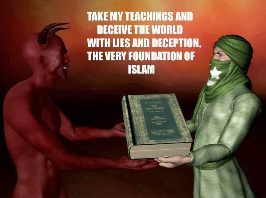 Image result for SATAN GIVING QURAN TO MUHAMMAD