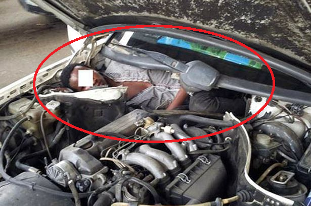 African Migrant Caught Hiding Right Inside A Car's Engine In Attempt To Enter Spain (Photo) – SERIOUSLY SPAIN??