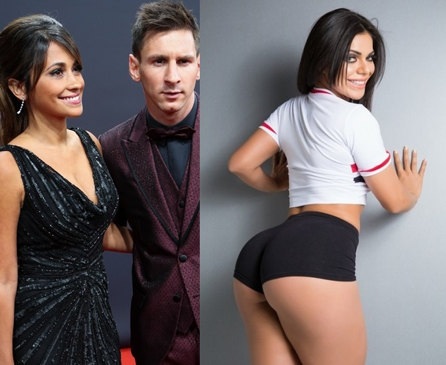 (150113) -- ZURICH, Jan. 13, 2015 (Xinhua) -- Lionel Messi (R) of Argentina poses with Argentinian model Antonella Roccuzzo on the red carpet ahead of the 2014 FIFA Ballon d'Or award ceremony in Zurich, Switzerland, Jan. 12, 2015. (Xinhua/Zhang Fan)