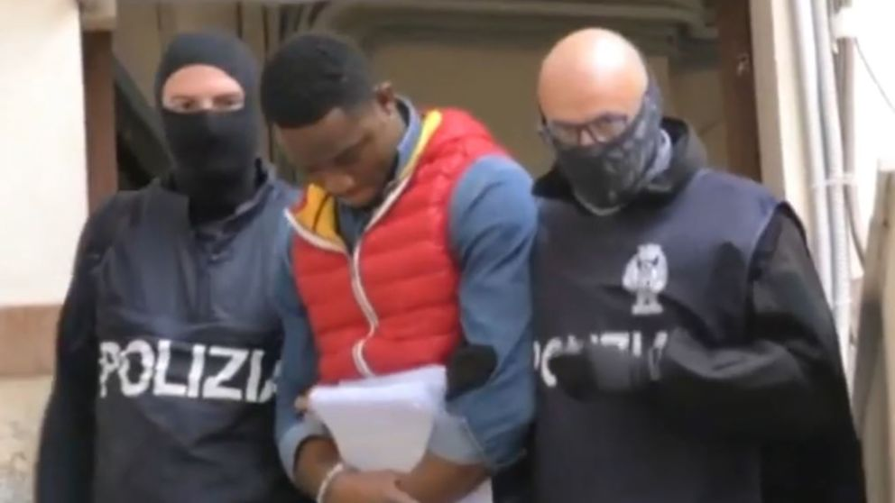 Photos: Italian police arrests over 20 Nigerian Black Axe members.