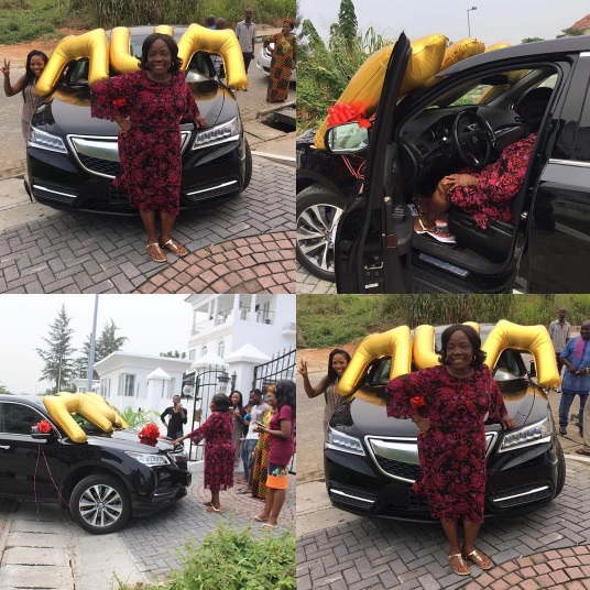 Blogger Linda Ikeji Buys Her Mum ₦19Million Brand New Acura SUV