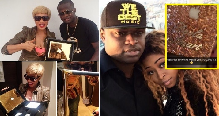 Tonto Dikehs Ex Boyfriend Malivelihood Gives His Girlfriend 10k 46Million Customized IPad As Birthday Gift Gossip Mill Nigeria