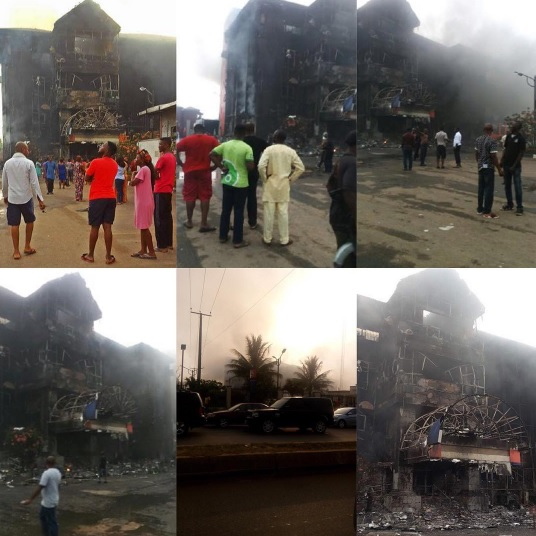 """Breaking News: The Biggest Shopping Mall In Edo State """"Hallmark"""" Has Just Been Completely Burnt Down By Fire (Must See)"""