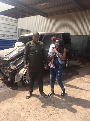 Photos: Nigerian Man Survives Ghastly Motor Accident Without A Scratch His G-Wagon Completely Destroyed (Must See)