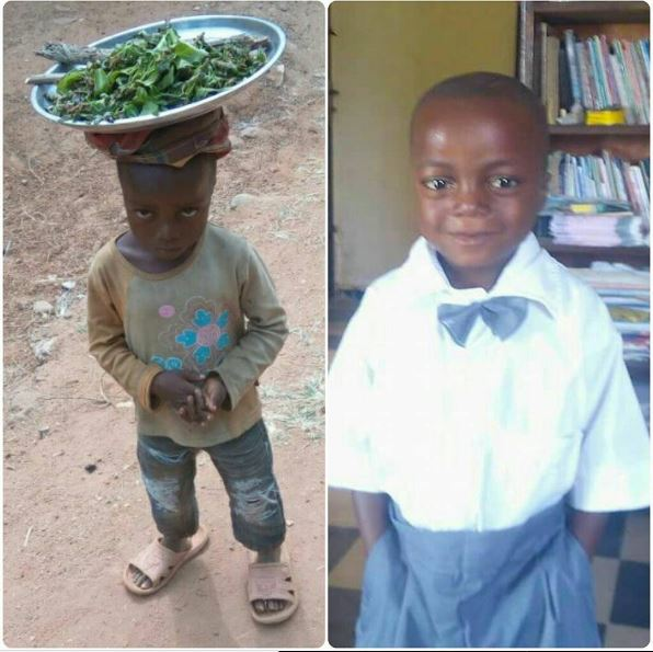 Photos: Little Boy Found Hawking On The Streets In Cross River, Gets Enrolled In School (Must See)