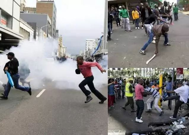 Xenophobia: Nigerians Fight Back In South Africa, Confront Protesters With Guns & Cutlasses