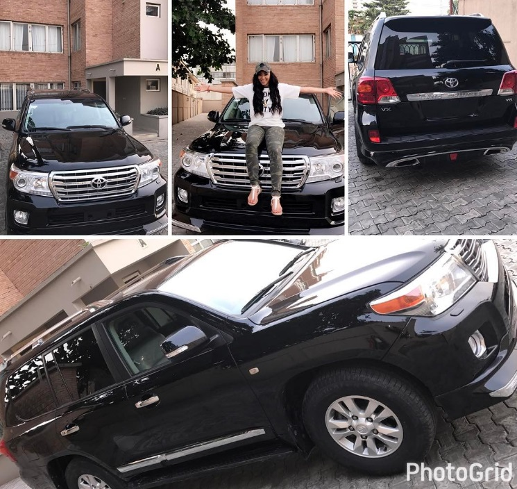 Photos: Rosaline Meurer, The Tonto Dikeh's Husband's P.A recently Accused Of Breaking Their Marriage, Buys Herself A Land Cruiser For Her Birthday