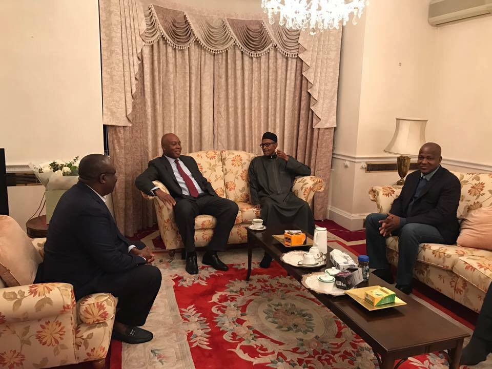 Photos: President Buhari Today Received Senate President Bukola Saraki And Dogara In London
