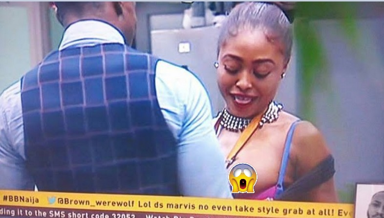 #BBNaija: Cocoice Bares Her Breasts For Bassey To Su-ck (Video)