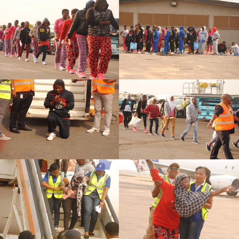 Photos: 161 Nigerians Deported From Libya Arrive Lagos Airport (Must See)