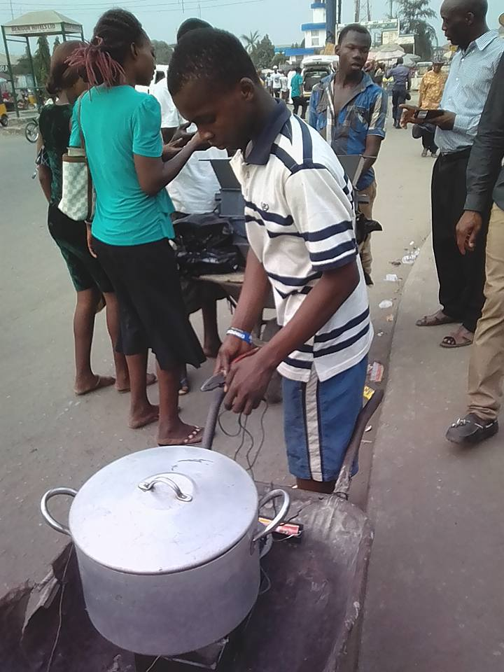 Photos: Meet 16-year-old Nigerian Boy From Onitsha Who Built A Stove That Uses Battery (Must See)