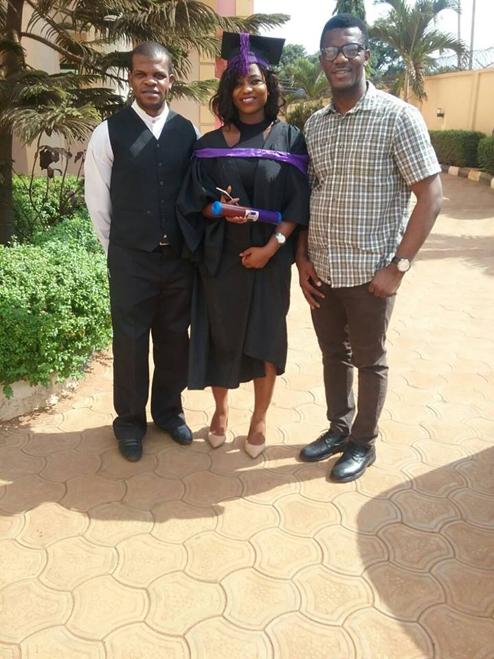 Photos: Beautiful Lady Graduates With First Class In Civil Engineering From Nnamdi Azikwe University