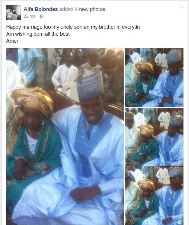 Photos: Man From Northern Part Of Nigeria Gets Married To A Child