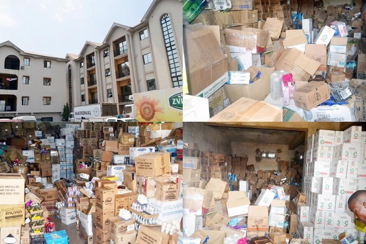 Photos: SON Discovers Twin Four-Storey Buildings Filled With Altered Expired Products