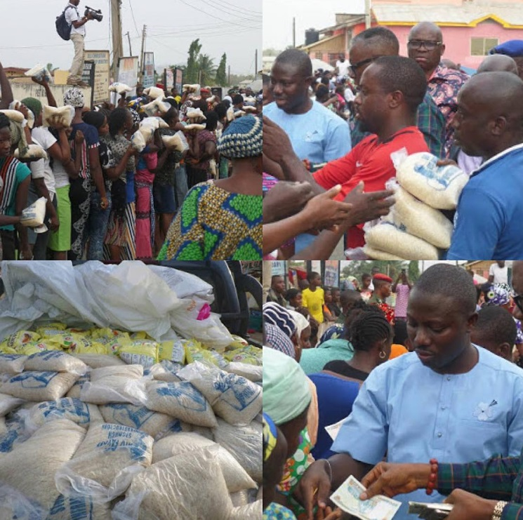 Photos: Excitement In Ekiti State As Governor Fasoye Resumes The Distribution Of Rice And 200 Naira