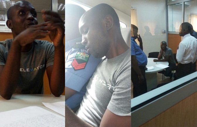 Photos: Right Inside The bank, Nigerian Graduate Steals Customer's Transfer Slip, Forges Signature To Withdraw N110k