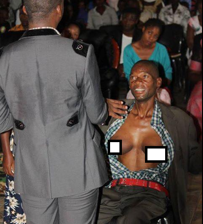 Photos: Man Develops Breast After A Lady He Promised Marriage Charmed Him For Not Fulfilling His Promise (Must See)