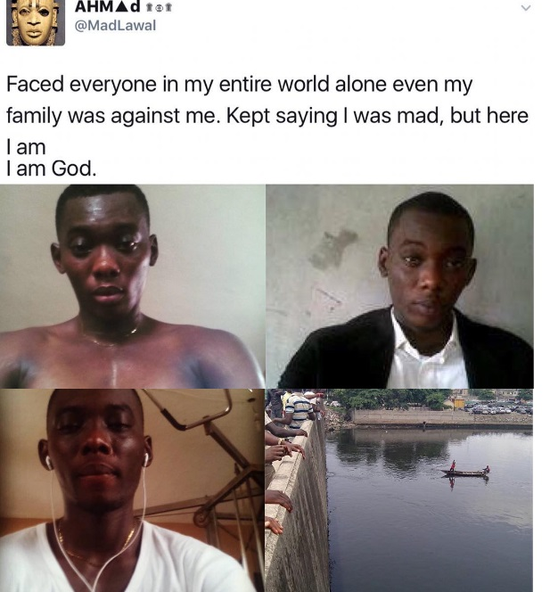 Photos: See The Last Minutes And Last Tweet Of The Unilorin Graduate That Jumped Into Festac Canal
