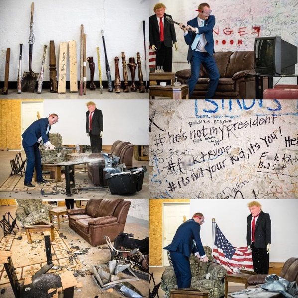 """Lady Creates An """"Anger Room"""" Where People Pay $500 To Express Their Anger Towards Donald Trump"""