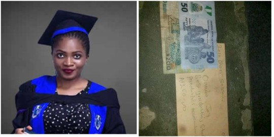 """I Am Grateful For The N250 Gift For Being The Best Graduating Pediatrics Student"" – Joy Omubo"