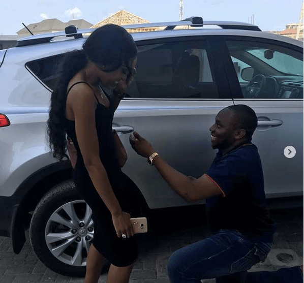 Nigerian Man Proposes To Girlfriend With A Brand New Toyota Jeep
