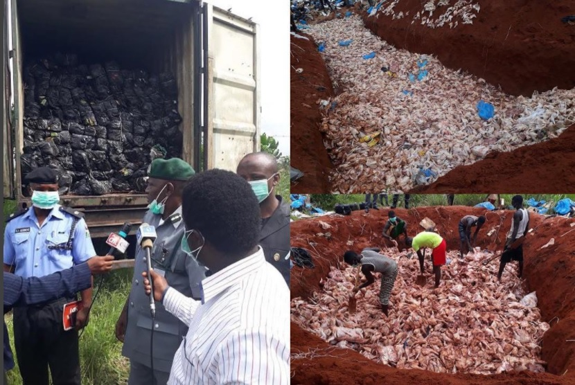 Customs Destroys 4,118 Cartons Of Frozen Poultry Products Worth N83million