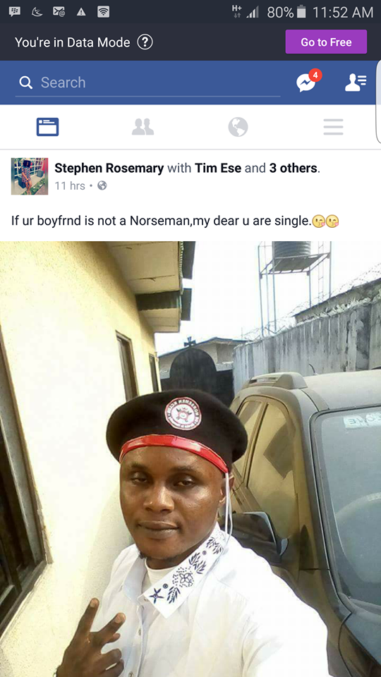"""IF YOUR BOYFRIEND IS NOT A NORSEMAN, MY DEAR YOU ARE SINGLE"" – NIGERIAN LADY, STEPHEN ROSEMARY"