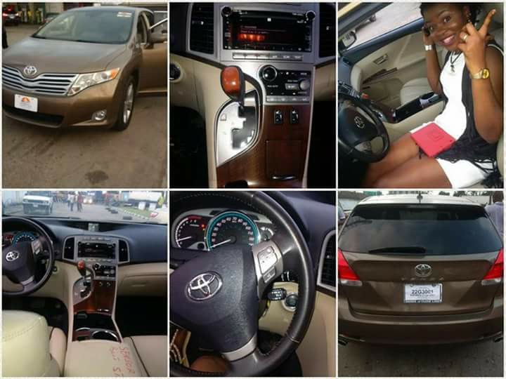 Photos: Nigerian Man Buys His Wife A Brand New Car, For Sticking With Him Through Hard Times