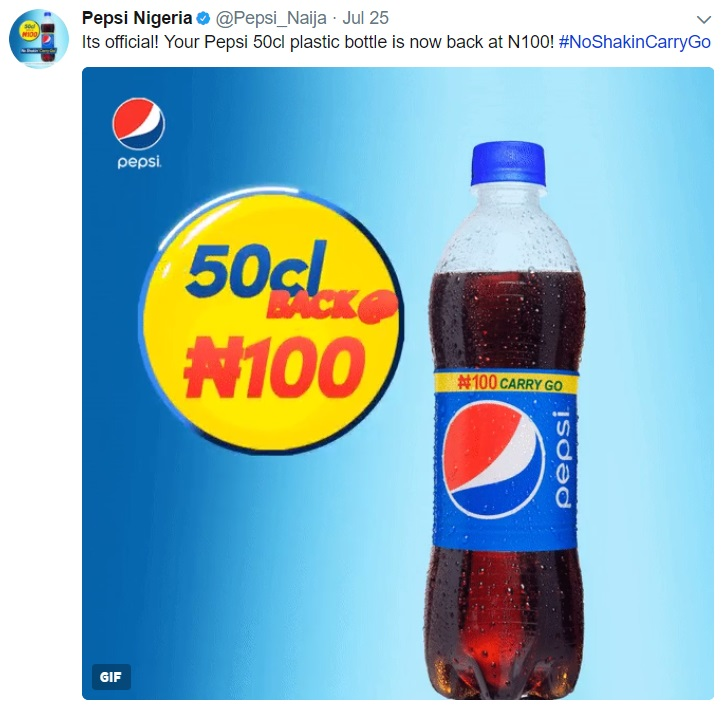 Pepsi Officially Reduces The Price Of 50cl Pepsi Pet Bottle Because Tekno Begged For Nigerians