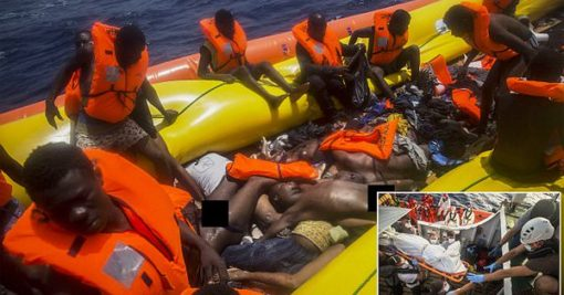 Photos: Pregnant Women And Children Among Dead Migrants Found In A Rubber Boat