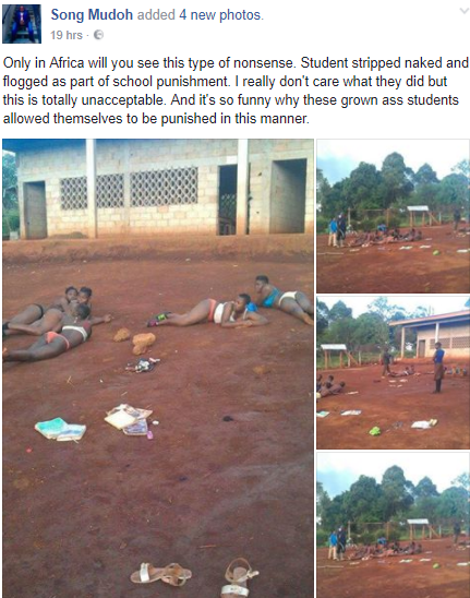 Viral Photos: Teachers Strip Female Students To Flog Them For Coming Late To School In Cameroon