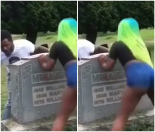 Photos: Guy Brings Stripper To Entertain And Twerk On His Friend's Grave (Video)