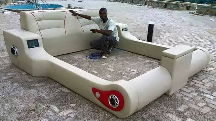 Photos: Talented Nigerian Man From Anambra Constructs Lovely Electronic Bed