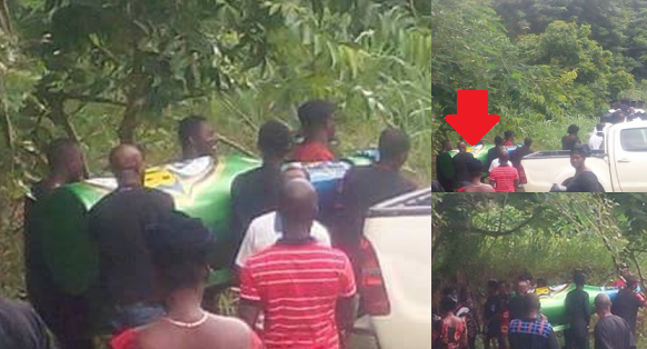 Mourners Shocked As Man Is Buried In A Star Beer Bottle In Ghana