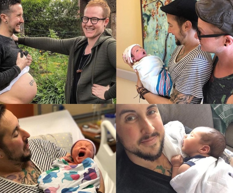 Photos: Transgender Man Gives Birth To Baby Boy With His Gay Husband