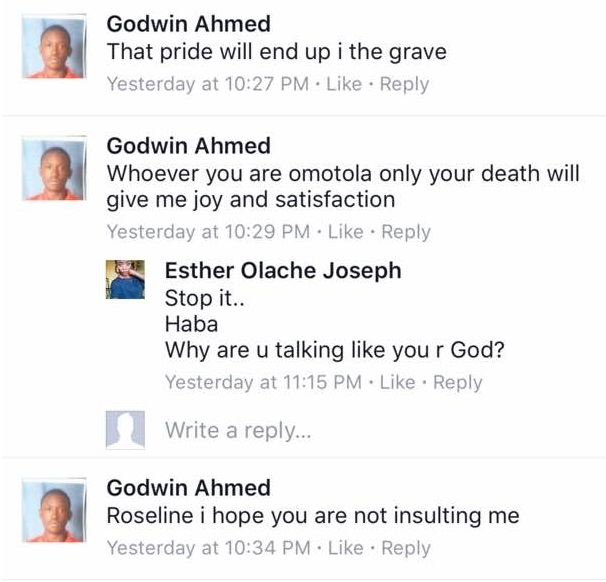 Omotola Only Your Death Will Give Me Satisfaction In Life