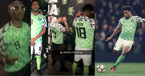 Iwobi And Starboy Wizkid Revile  The New Super Eagles World Cup Jersey
