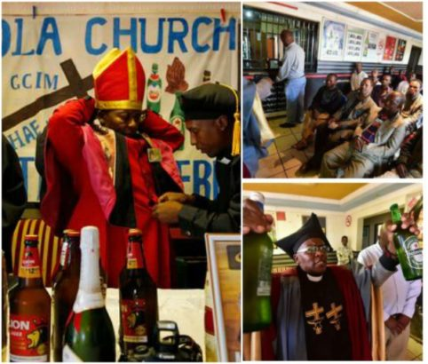 Photos: Church In South Africa Where Beer, Wines And Alcohol Are Used To Worship And For Baptism