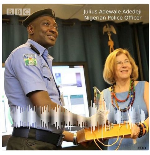 BBC Honours Nigerian Police Officer Who Has Never